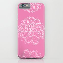 Outlined Dahlia Pattern iPhone Case