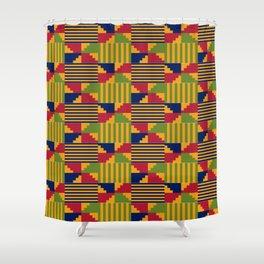 African Kente Pattern 9 Shower Curtain