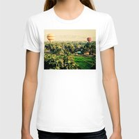hot air balloons T-shirts featuring Hot Air Balloons Before Mountains  by Limitless Design
