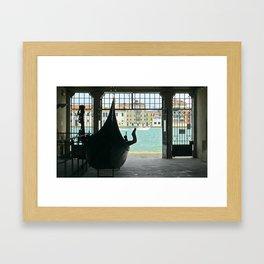 Gondola on Giudecca Island, Grand Canal, Venice Framed Art Print
