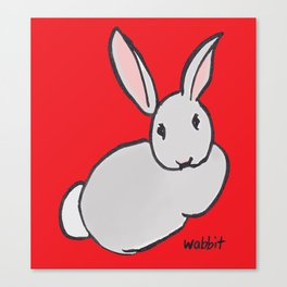 Wabbit Wondering All Alone in the World Canvas Print