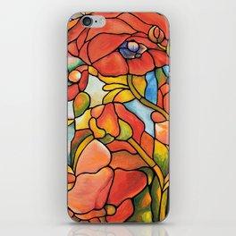 Red Poppy Lamp iPhone Skin