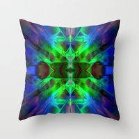 neon Throw Pillows featuring Neon by Assiyam