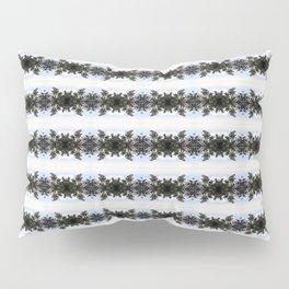 White crowned sparrow, blue blossom Ceanothus Thyrsiflorus bush pattern Pillow Sham
