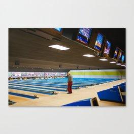 Old Man Bowling Canvas Print
