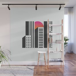 Cityscape // Architecture Minimalist Illustration Wall Mural