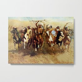 """Victory Dance"" Western Art by Frederick Remington Metal Print"