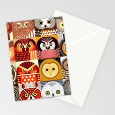 North American Owls Stationery Cards