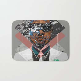 Hip Hop KanyeWest Compilation Minimal Abstract Bath Mat
