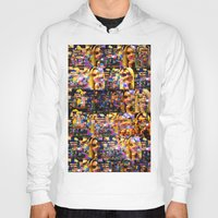 lindsay lohan Hoodies featuring Lindsay-Alice-Court-Glitch by Peter Marsh