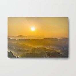 Sunset Landscape Metal Print