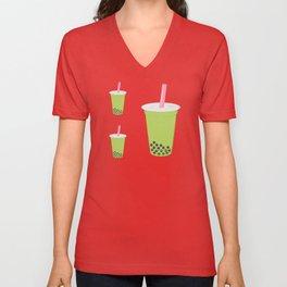 Matcha Bubble Tea Unisex V-Neck