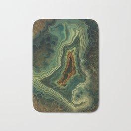 The world of gems - green agate Bath Mat
