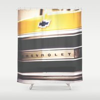 truck Shower Curtains featuring Old truck by Julia Goss Photography