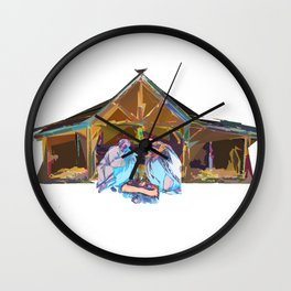 Away in a Manger Wall Clock