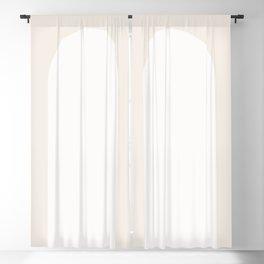 Minimal Arch - White Blackout Curtain
