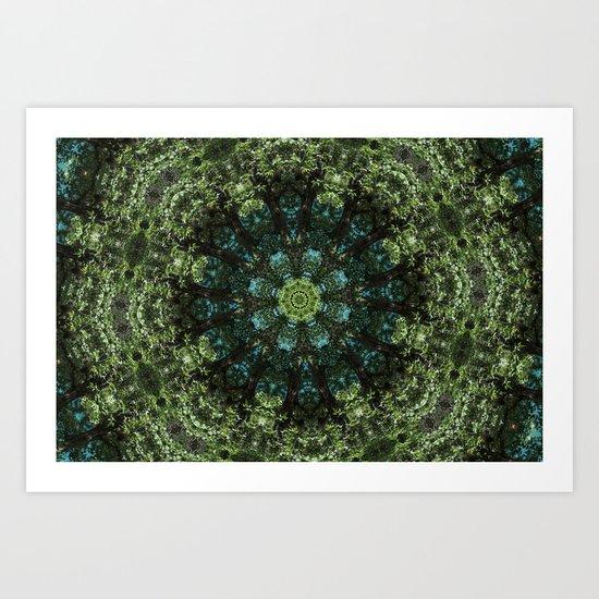 """Forest Guardians"" Mandala Art Print"