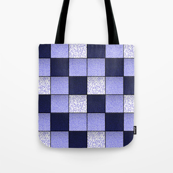 Blue Spotty Tiles Tote Bag
