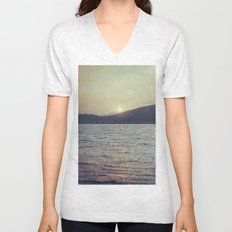Blue Sunset Unisex V-Neck