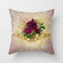 Decadent Velvet Rose Throw Pillow