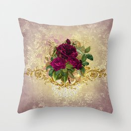 Decadent Velvet Rose Throw Pillow