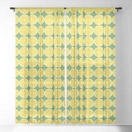 Zesty Summer Lemon Pattern Sheer Curtain
