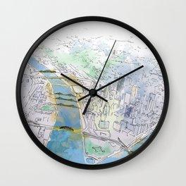 Pittsburgh Aerial Wall Clock