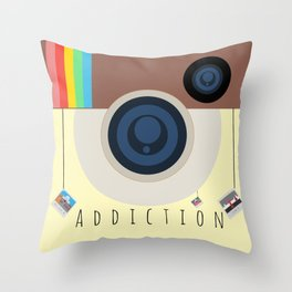 The Addiction Throw Pillow