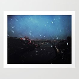 winter in oporto Art Print