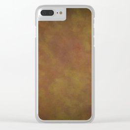 Abstract Watercolor Patch Work Blend 11 Light Brown & Dark Brown, Earth Tones Clear iPhone Case