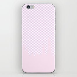 Pink Checkered Drip iPhone Skin