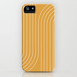 Minimal Line Curvature - Golden Yellow iPhone Case