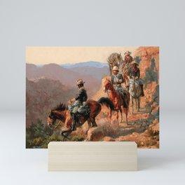 "Frederick Remington Western Art ""With the 10th Cavalry"" Mini Art Print"