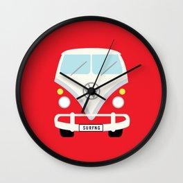 Surf's Up Minimal Bus Wall Clock