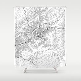 Minimal City Maps - Map Of Knoxville, Tennessee, United States Shower Curtain