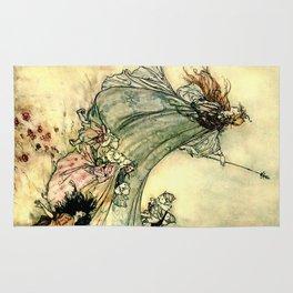 """""""Queen of the Fairies"""" by Arthur Rackham Midsummer's Night Rug"""