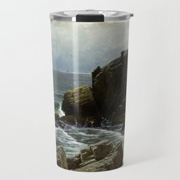 Castle Rock, Marblehead, 1878 by Alfred Thompson Bricher Travel Mug
