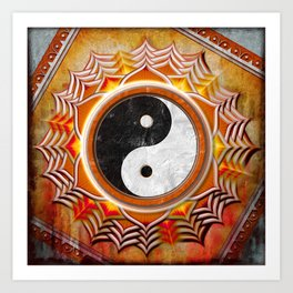 Yin Yang - Healing Of The Orange Chakra Art Print
