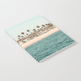 Vintage Newport Beach Print {1 of 4} | Photography Ocean Palm Trees Teal Tropical Summer Sky Notebook