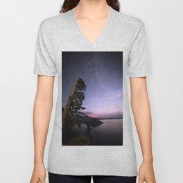 Crater Lake Glow Unisex V-Neck