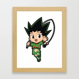 Chibi Gon Freecss Framed Art Print