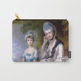 """Thomas Gainsborough """"Hester, Countess of Sussex, and Her Daughter, Lady Barbara Yelverton"""" Carry-All Pouch"""