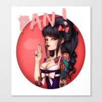 rockabilly Canvas Prints featuring Rockabilly Girl ! by Christine Alcouffe