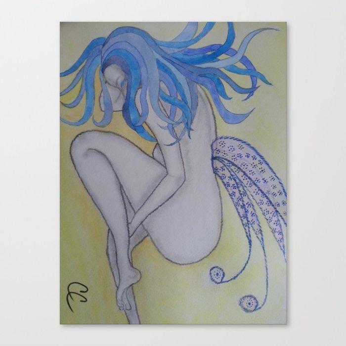 Blue Haired Fairy Canvas Print