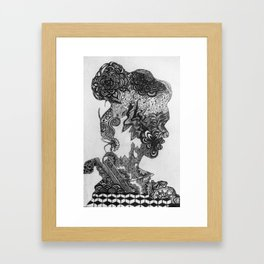 Peaceful thoughts Framed Art Print