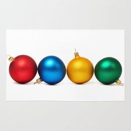 Colorful Christmas balls Rug