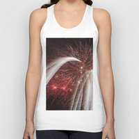 fireworks Tank Tops featuring Fireworks by Carolina Jaramillo