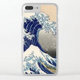 "Katsushika Hokusai ""The Great Wave off Kanagawa"" Clear iPhone Case"