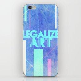 Legalize Art. iPhone Skin
