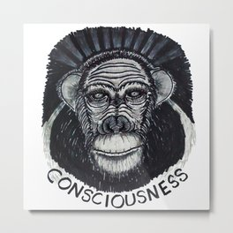 Consciousness Metal Print